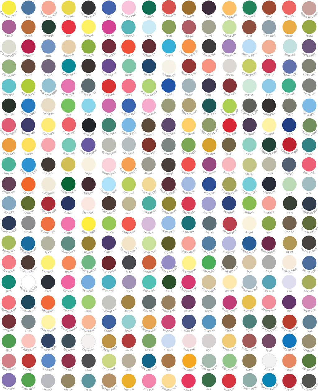My Favorite Color Is Moda Quilt Fabric - Swatch Dots in Multi - 9900 10
