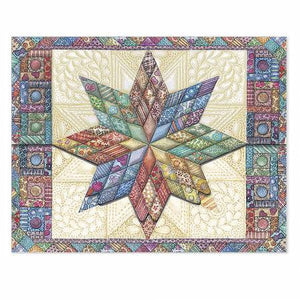 Mini Portfolios Quilted Star Notecards - NCP2113M