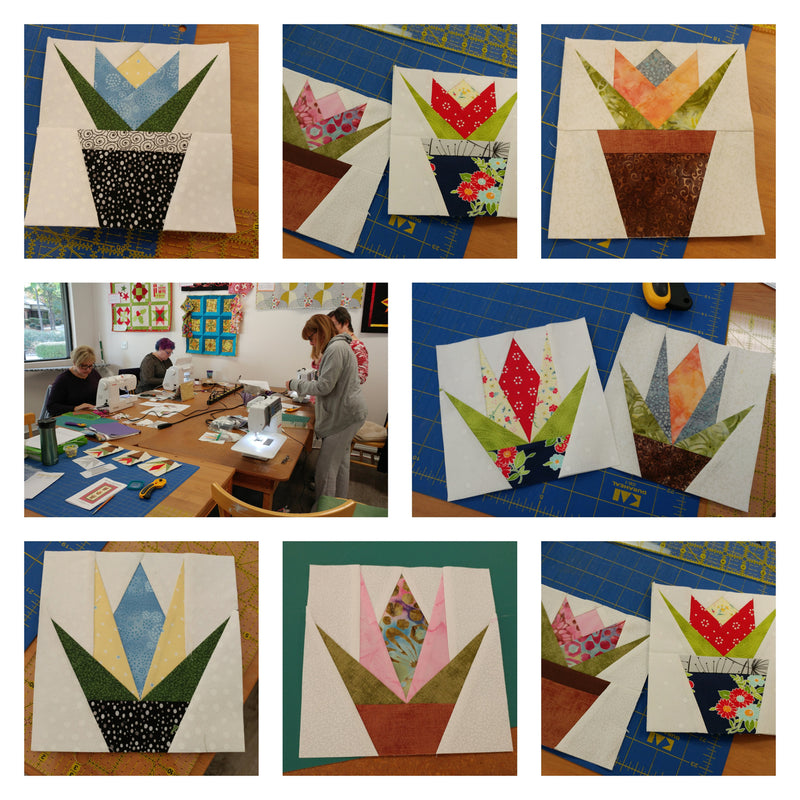 Paper Piecing Class Samples at Cary Quilting Company