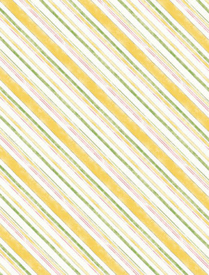 Painting Paris Quilt Fabric - Bias Stripe in Yellow - 3027-16507-157