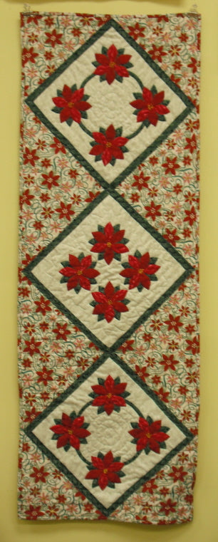 Digital Download: Poinsettia Table Runner