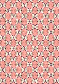 Poodle & Doodle Quilt Fabric - Retro Wiggle in Pink - A361.3