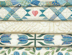 Stacked Blue Quilt Note Cards - RB61
