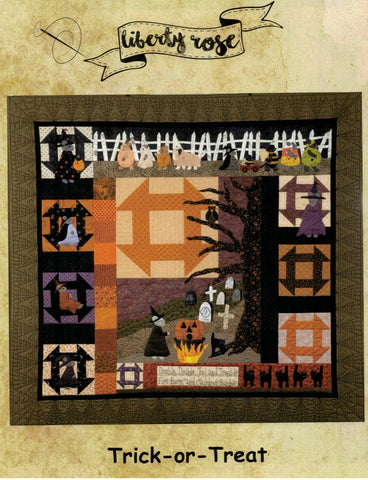 Trick-or-Treat Quilt/Wool Applique Pattern - LR-TRT