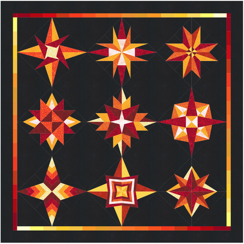 Nine Wishes Quilt Pattern by Rosi Hanley