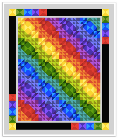 Digital Download: My Favorite Colors Quilt Pattern by Rosi Hanley