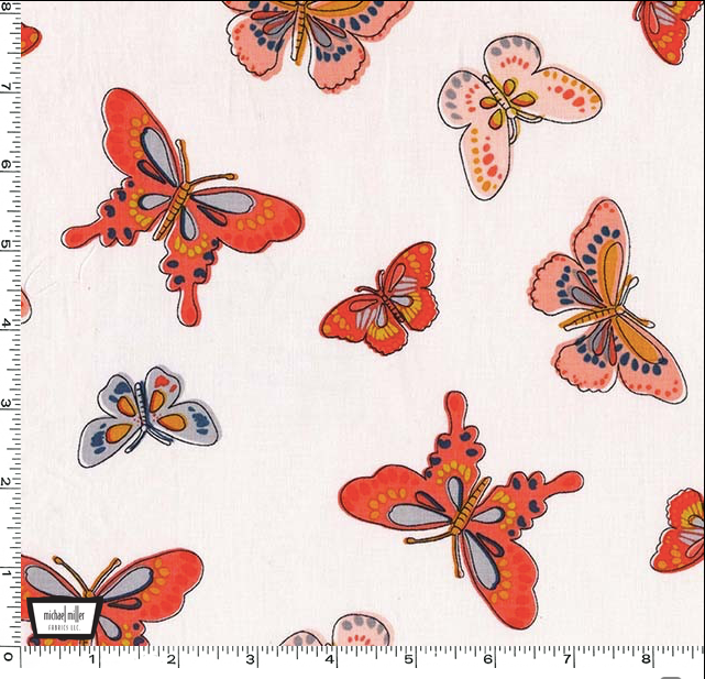 Daisy Paisley - All-a-Flutter in Coral - DC7755-CORA-D