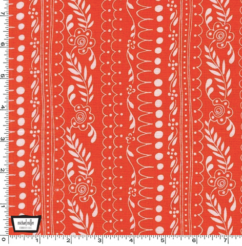 Daisy Paisley - Sweet Daisy Lane in Coral - DC7757-CORA-D