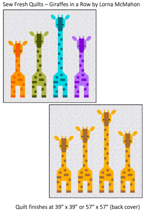 Giraffes in a Row Quilt Pattern - SFQ-GIR
