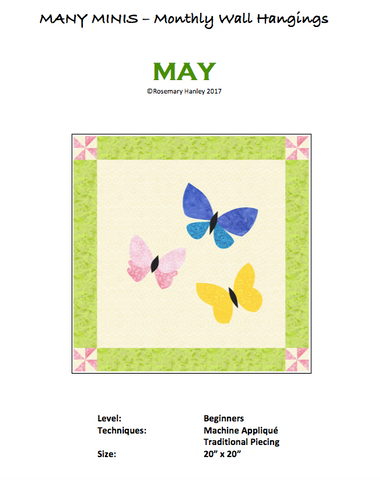 Many Minis Monthly Wall Hanging - Beginner May - RH-BMAY