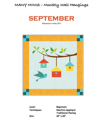 Many Minis Monthly Wall Hanging - Beginner September - RH-BSEP