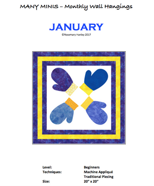 Many Minis Monthly Wall Hanging - Beginner January - RH-BJAN