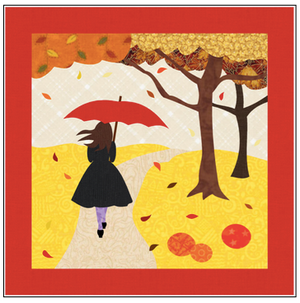 The Girl with the Red Umbrella Monthly Wall Hanging - October - RH-UOCT