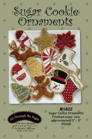 Sugar Cookie Wool Applique Ornament Pattern - ATN1822