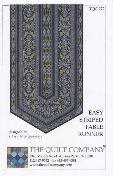 Easy Striped Table Runner Pattern - TQC 272