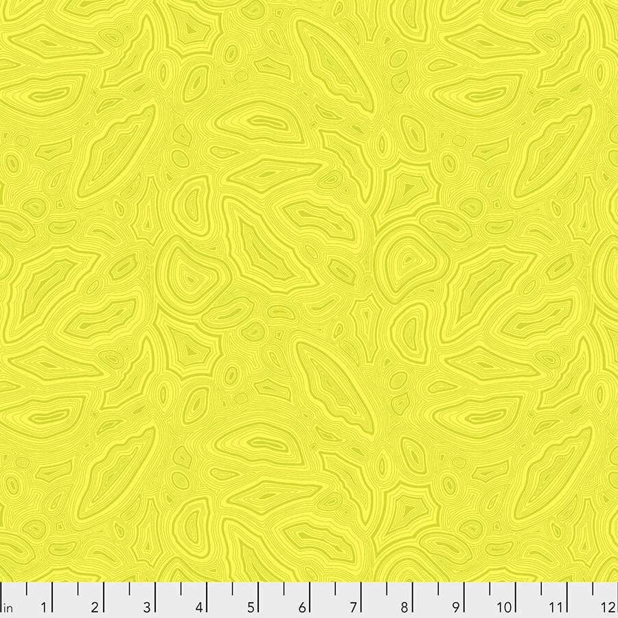 True Colors Quilt Fabric by Tula Pink - Mineral in Citrine Yellow - PWTP148.CITRINE
