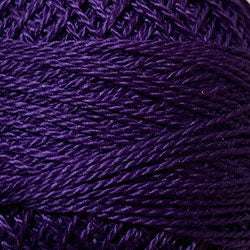 Valdani 87 Rich Purple Solid - Perle/Pearl Cotton Size 12, 109 yard ball - PC12-87