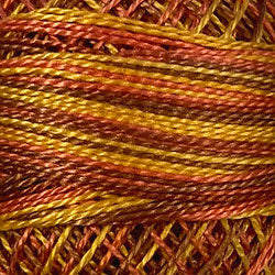 Valdani M7 Fall Leaves (Oranges/Yellows) Variegated - Perle/Pearl Cotton Size 12, 109 yard ball - PC12-M7