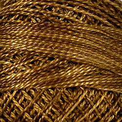 Valdani O154 Dark Antique Golds Variegated - Perle/Pearl Cotton Size 12, 109 yard ball - PC12-O154