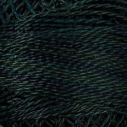Valdani O536 Dark Spruce (Greens) Variegated - Perle/Pearl Cotton Size 12, 109 yard ball - PC12-O536
