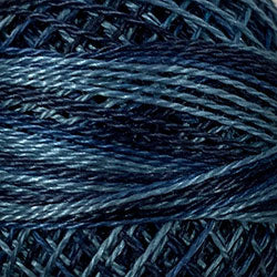 Valdani O537 Sea Deep (Blue/Teal) Variegated - Perle/Pearl Cotton Size 12, 109 yard ball - PC12-O537