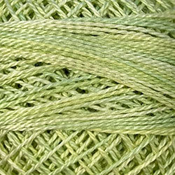 Valdani O543 Lime Sherbet (Greens) Variegated - Perle/Pearl Cotton Size 12, 109 yard ball - PC12-O543