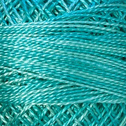 Valdani O544 Pond Ripple (Blues/Greens) Variegated - Perle/Pearl Cotton Size 12, 109 yard ball - PC12-O544