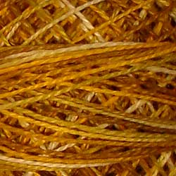 Valdani V106 Antique Golds - Perle/Pearl Cotton Size 12, 109 yard ball - PC12-V106