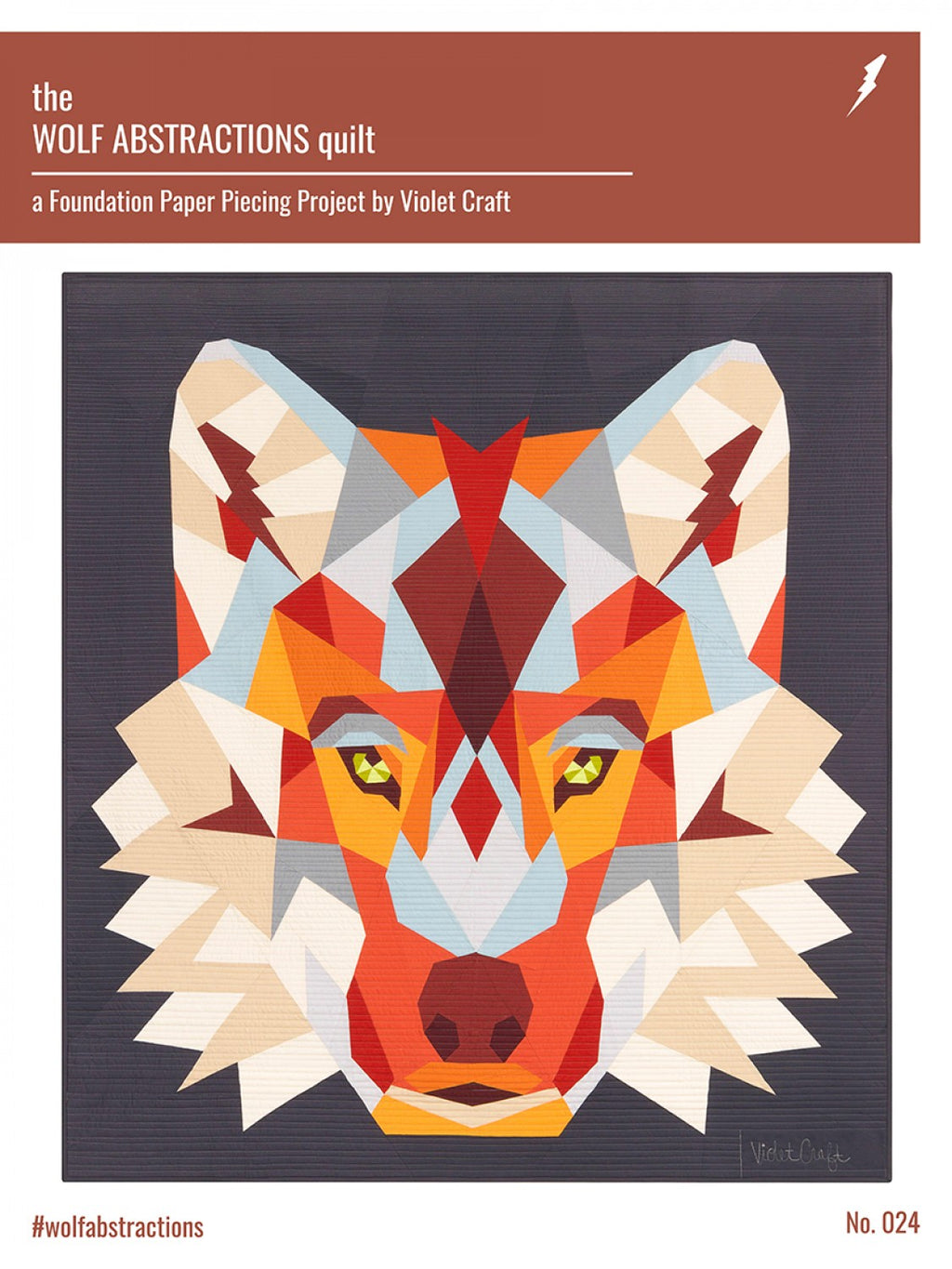 Wolf Abstractions Foundation Paper Pieced Quilt Pattern by Violet Craft - VC024