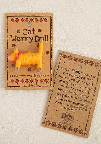 Worry Doll by Natural Life - Cat - DOLL006