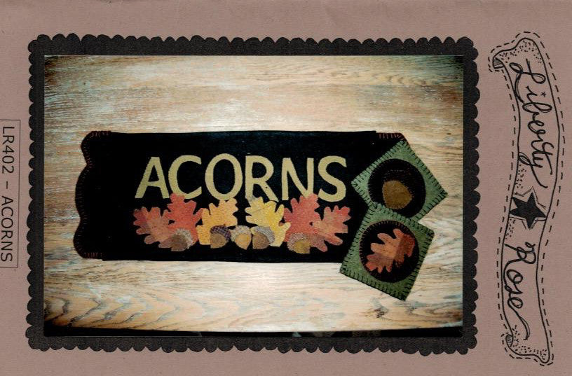 Acorns wool applique pattern lr402 cary quilting company