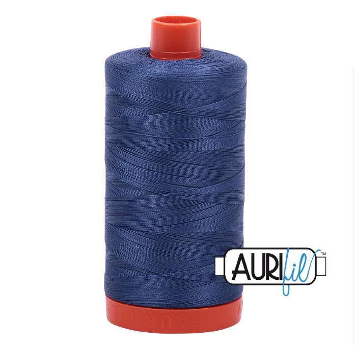 Aurifil 50 wt cotton thread, 1300m, Steel Blue (2775)