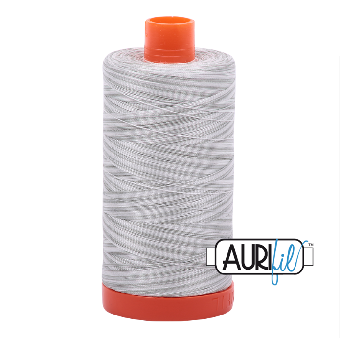 Aurifil 50 wt cotton thread, 1300m, Variegated Silver Moon (4060)