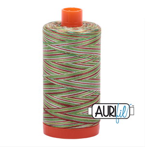 Aurifil 50 wt cotton thread, 1300m, Variegated Leaves (4650)