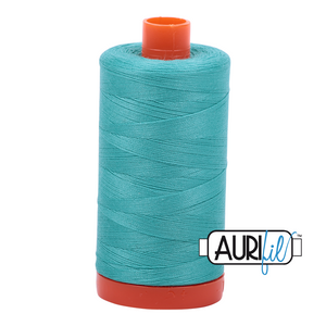 Aurifil 50 wt cotton thread, 1300m, Light Jade (1148)