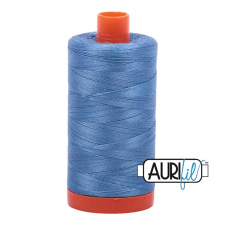Aurifil 50 wt cotton thread, 1300m, Light Wedgewood (2725)