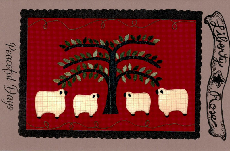 Peaceful Days Wool Applique Pattern - LR-PEA