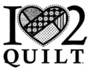 I Love 2 Quilt window decal