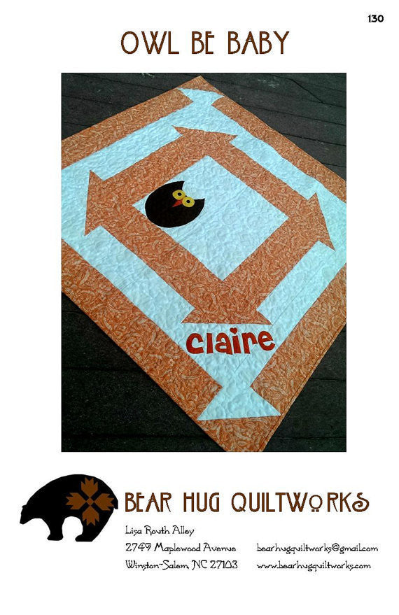 Owl Be Baby Quilt Pattern by Bear Hug Quiltworks 130