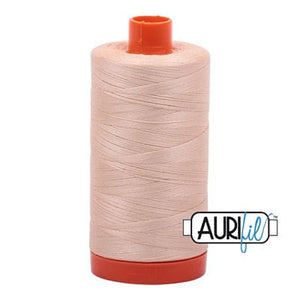 Aurifil 50 wt cotton thread, 1300m, Pale Flesh (2315)