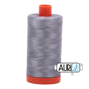 Aurifil 50 wt cotton thread, 1300m, Grey (2605)