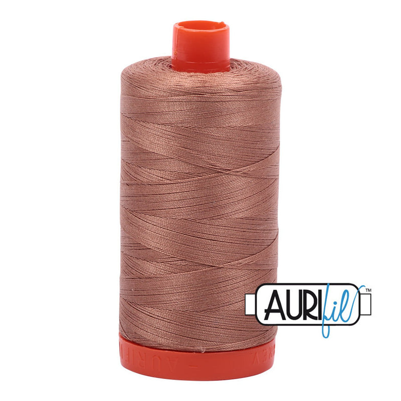Aurifil 50 wt cotton thread, 1300m, Cafe au Lait (2340)