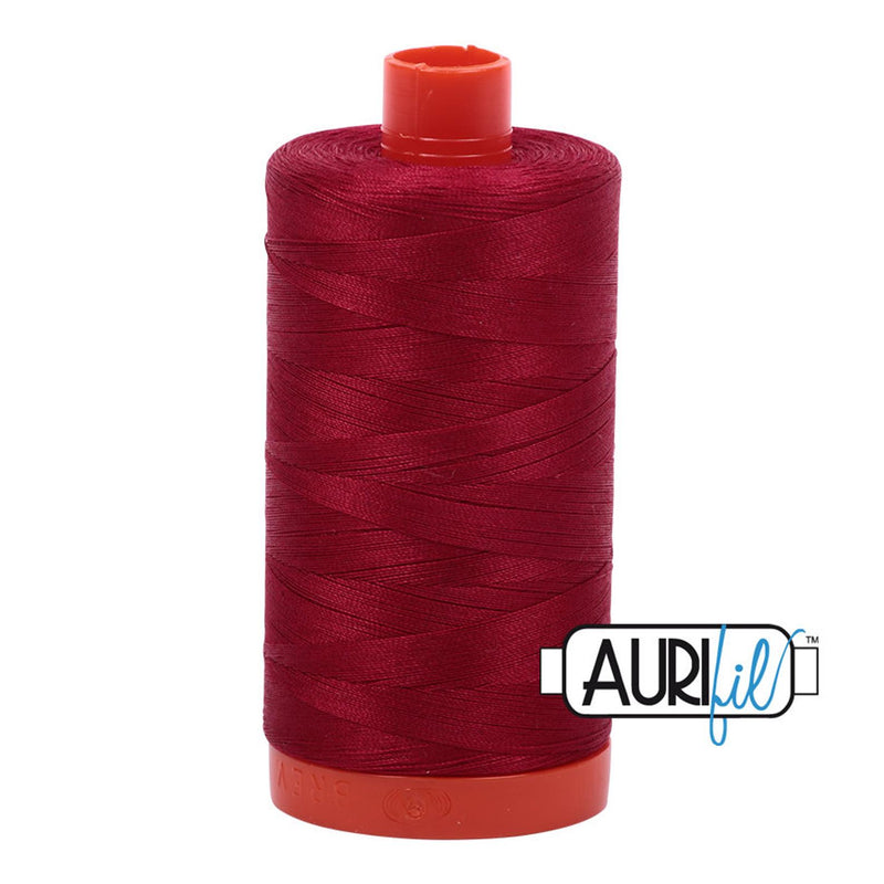 Aurifil 50 wt cotton thread, 1300m, Red Wine (2260)