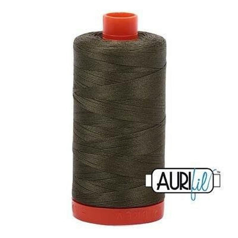 Aurifil 50 wt cotton thread, 1300m, Army Green (2905)