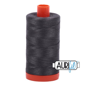 Aurifil 50 wt cotton thread, 1300m, Pewter (2630)