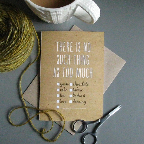 There is No Such Thing... Individual Greeting Card - TF303