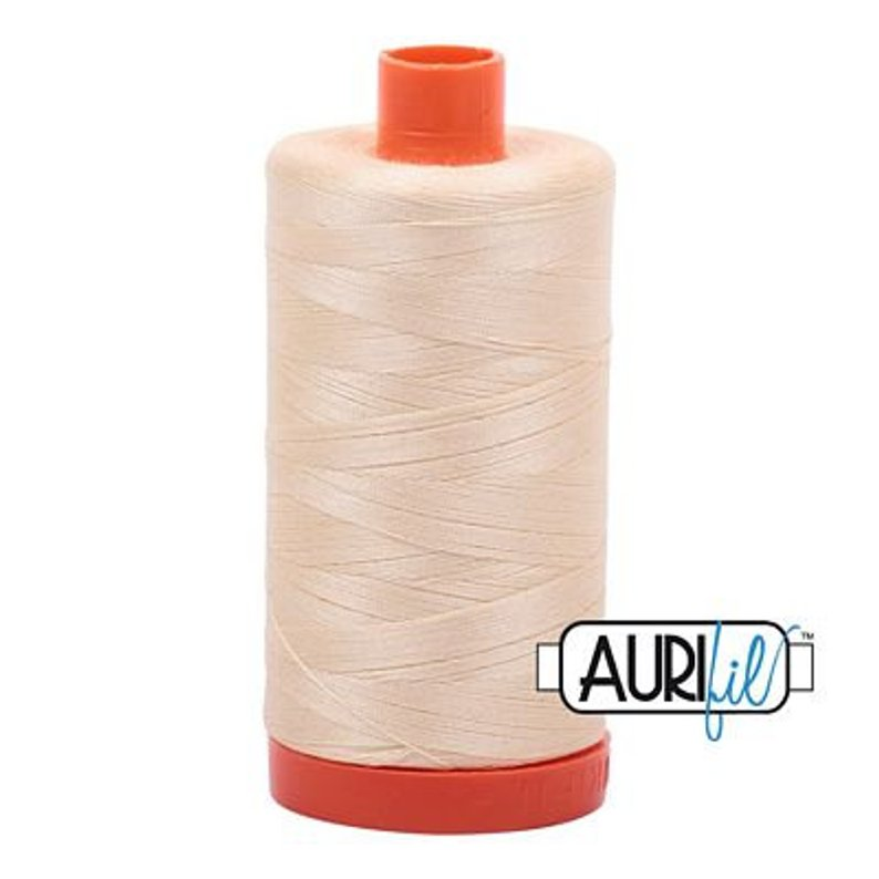 Aurifil 50 wt cotton thread, 1300m, Butter (2123)