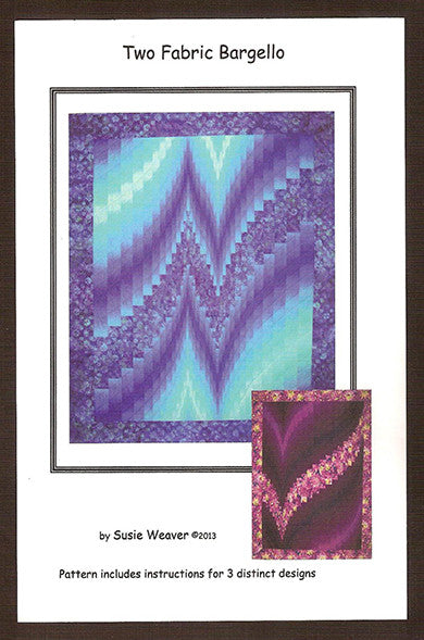 Two Fabric Bargello Quilt Pattern