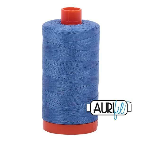 Aurifil 50 wt Cotton Thread, 1300m, Light Blue Violet (1128)