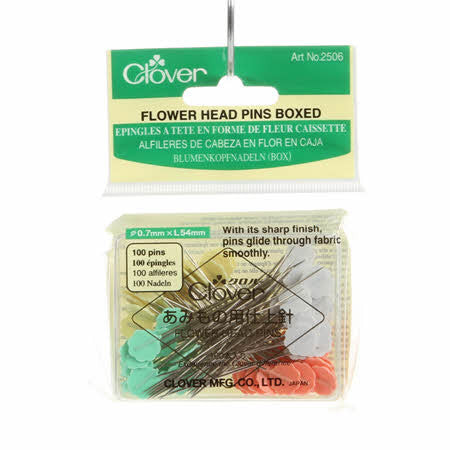 100 Flat Head Flower Pins - 2506CV
